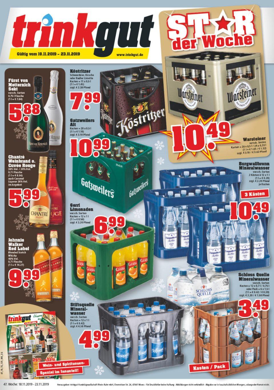 Trinkgut Angebote gültig vom 18.11.2019 bis 23.11.2019